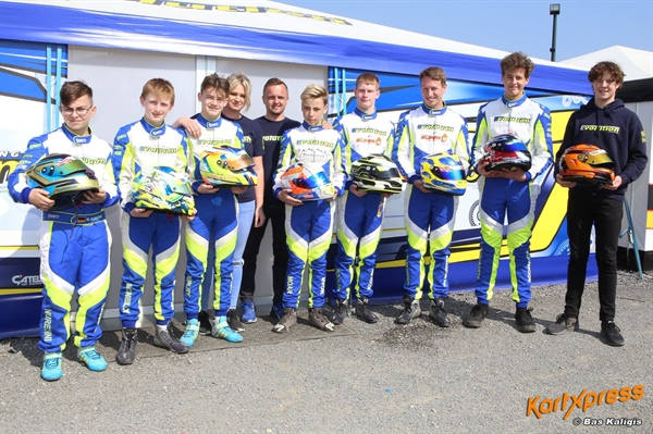 Koolen shines with Team Evolution at IAME Euro Series opener in Mariembourg
