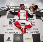 Alex Irlando takes his first KZ podium in Wackersdorf