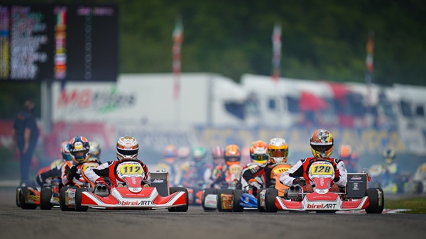 Birel ART - Pole position and leading performances at Genk