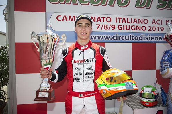 Leonardo Marseglia grabs 2nd in the ACI Karting Italian Championship