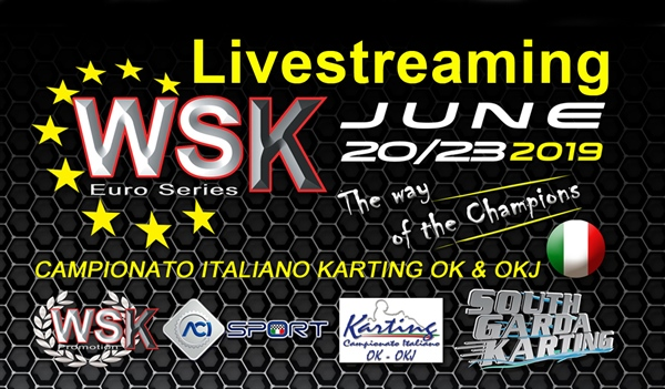 Livestream of the Third round in WSK Euro Series at Lonato (I)