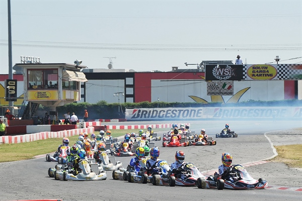 Final day at the third round of the WSK Euro Series in Lonato