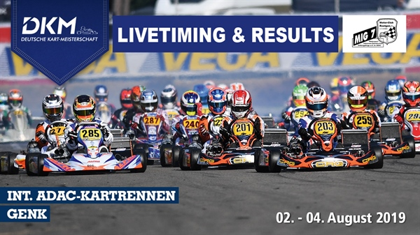 Live timing of the DKM races in Genk, First decisions possible in Belgium