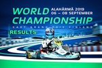 RESULTS: FIA 2019 Karting World Championship at the Alahärmä Powerpark circuit, Finland