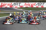 Qualifying heats day at the WSK Open Cup in Lonato