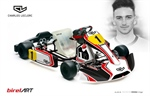 Charles Leclerc karting competition department in collaboration with the team Lennox Racing