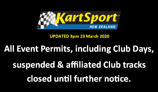 KartSport New Zealand: All events suspended & tracks closed until further notice