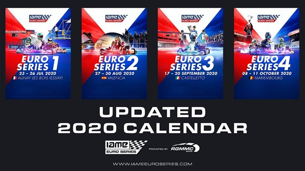 Updated calendar IAME Euro Series 2020