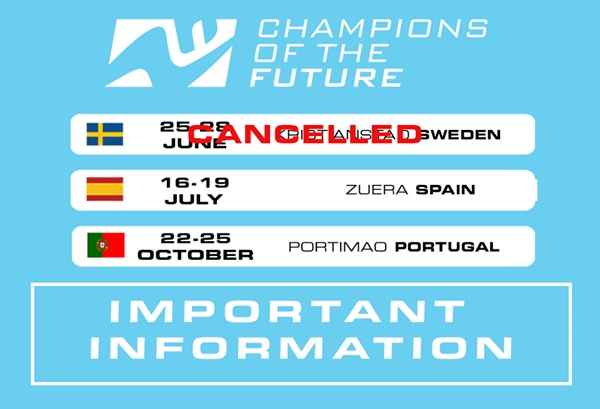 Champions of the future Round 1 in June is canceld