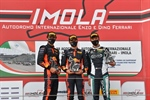 Imola, race 2: Edgar with wet track on Crawford and Rosso