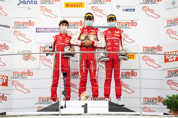 PREMA Powerteam scores double podium lockout in Mugello F4 event