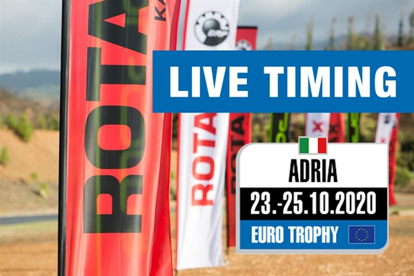 Livetiming: Round 3 of the Rotax Max Euro Trophy Round 3 at Adria