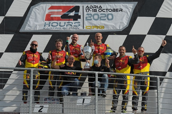 Kart CRG: BAC-PKI (Pro) and the Allianz Team (Silver) are the winners of the Adria 24 Hours Karting Race