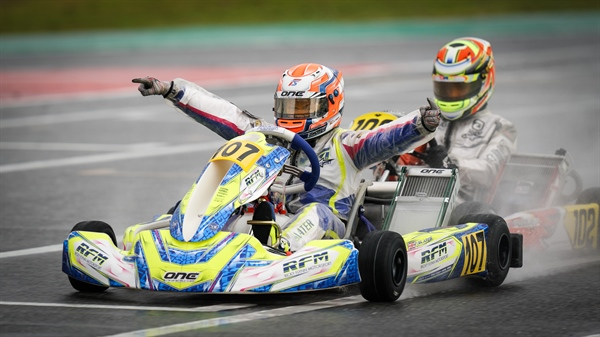 Freddie Slater and Kosmic World Championship in OK Junior, strong performance Ean Eyckmans