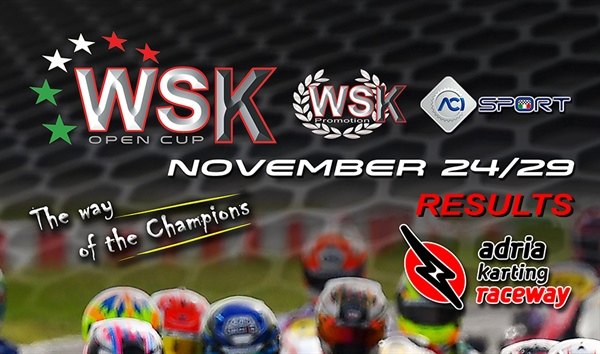 Results: WSK Open Cup Round 1 & 2 at the Adria Karting Raceway