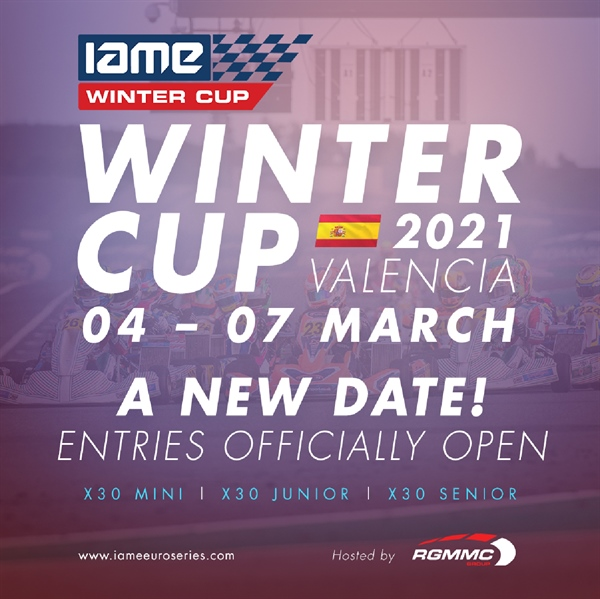 NEWS UPDATE: The 2021 IAME Winter Cup in Valencia - We are racing and entries are open
