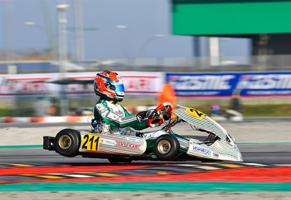 Tony Kart Racing Team on the podium of the WSK Champions Cup