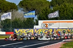 Qualifying of the second round of WSK Super Master Series is on in La Conca