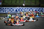 The winners of the heats of WSK Super Master Series in Lonato