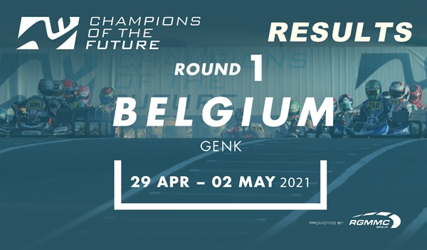 "Results: Round 1 of the ""Champions of the Future"" in Genk"
