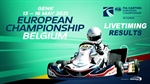 Livetiming and Results: Round 1 of the FIA Karting European Championship - OK & Junior at Genk