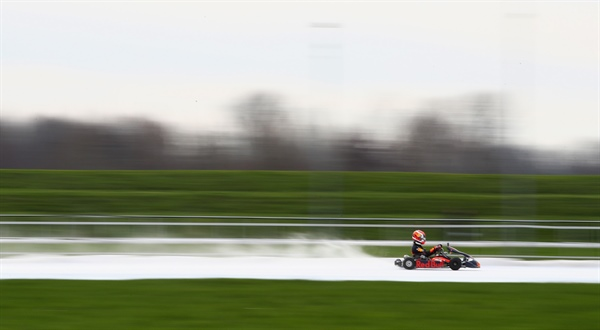 "Max Verstappen: ""This was my first time karting on ice and I had a lot of fun!"""