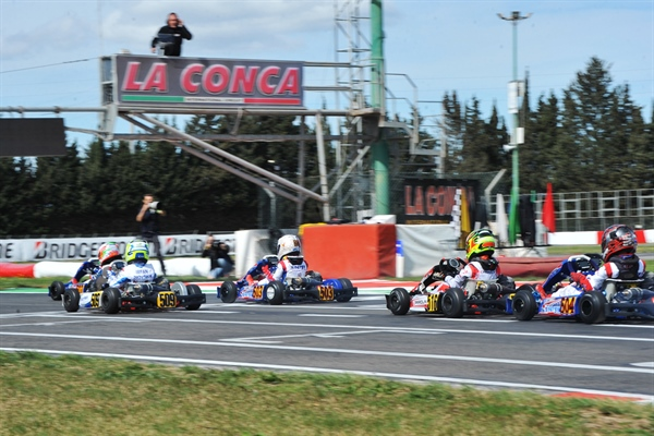 Qualifying practice at the WSK Super Master Series - rd.3 in Muro Leccese (I)