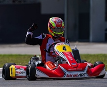 Brilliant KZ2 victory for Longhi in the WSK Euro Series at Sarno