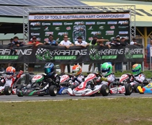 Hard fought battles during Australian Kart Championship return in Newcastle