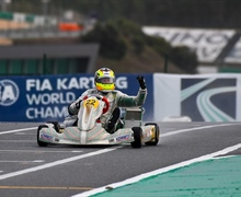 Historic top 3 Tony Kart Racing Team at FIA World Campionship karting at Portimao