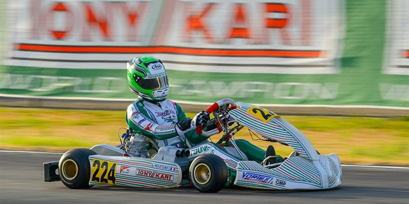 Tony Kart Racing Team with 16 drivers at the last act of the WSK Super Master Series