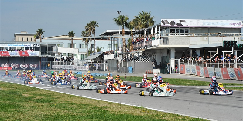 Qualifying heats day at the WSK Super Master Series in Sarno (I)