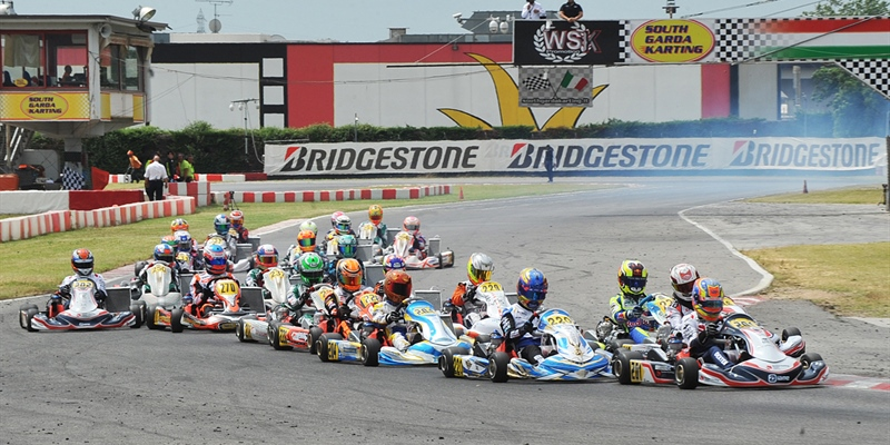 Qualifying heats day at the third round of the WSK Euro Series in Lonato (I)
