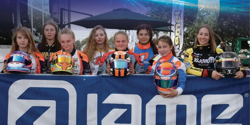 Wins the Ladies Cup... and goes to measure the 143 best world drivers at the 2019 IAME International...