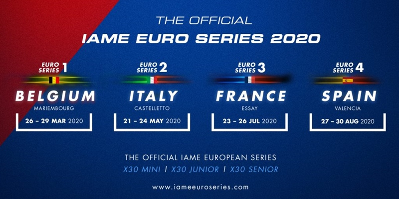 Entries now open to guarantee your place in 2020 IAME Euro Series!