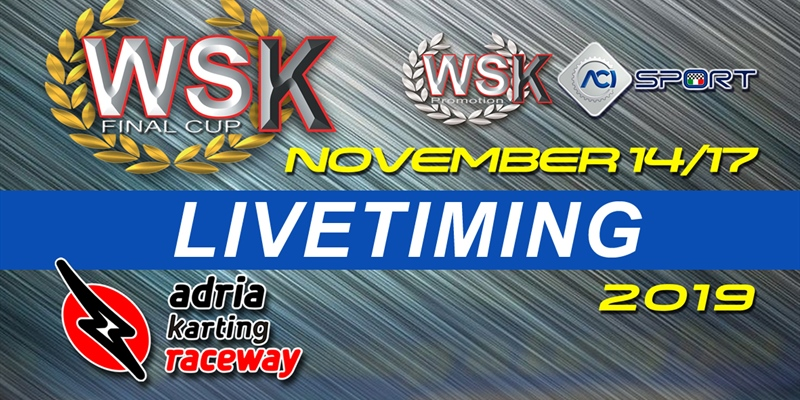 Live timing of the WSK Final Cup at the Adria Karting Raceway