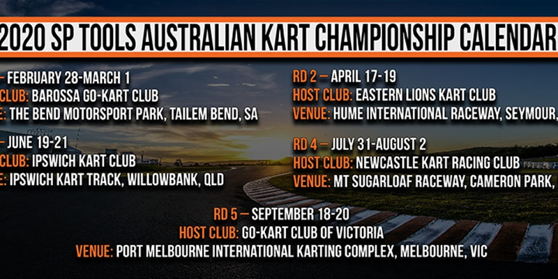 Australian Kart Championship to hit the bend in 2020