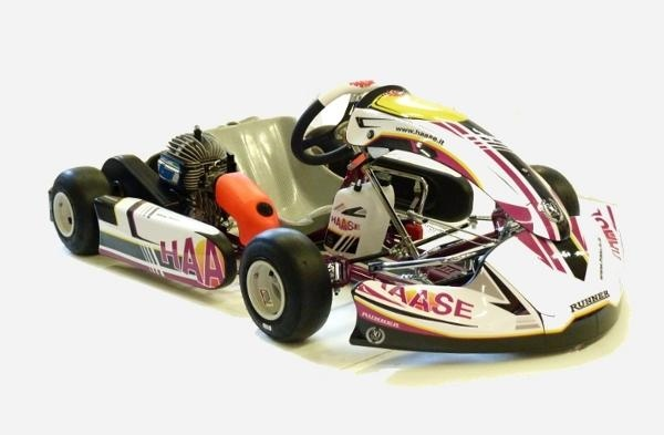 New look for the 2020 Bomber minikart chassis: new Haase graphics and new KG bodywork