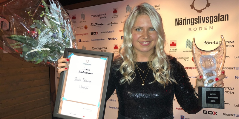 From karting to cars! Jessica Bäckman is the Citizen of the year in Boden 2020