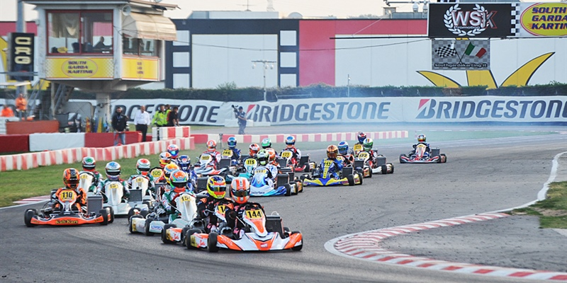 Lonato kicking off the WSK Final Cup 2018 with 259 drivers on track.