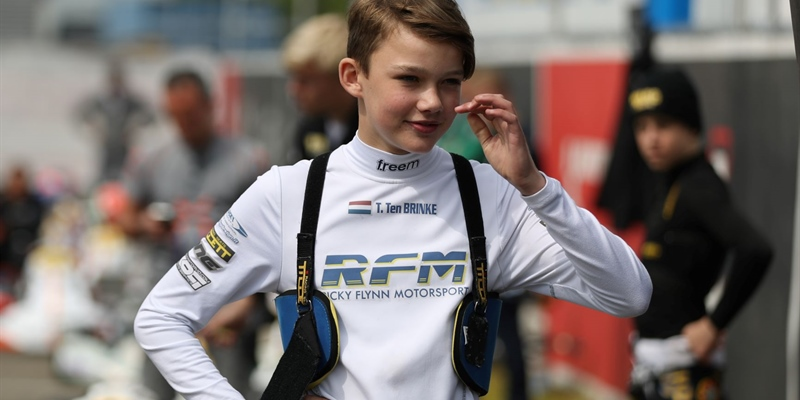Super strong first half of the racing season for Thomas ten Brinke: in the front at the WSK and...