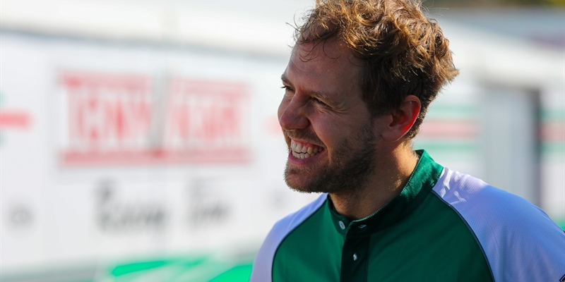 Sebastian Vettel in Lonato with Tony Kart