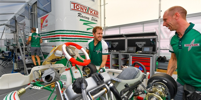Video: Sebastian Vettel testing in Lonato for Tony Kart