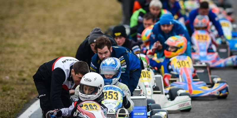Parolin Racing Kart in force at the Winter Cup