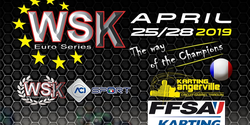 Second round of the WSK Euro Series in Angerville (F)