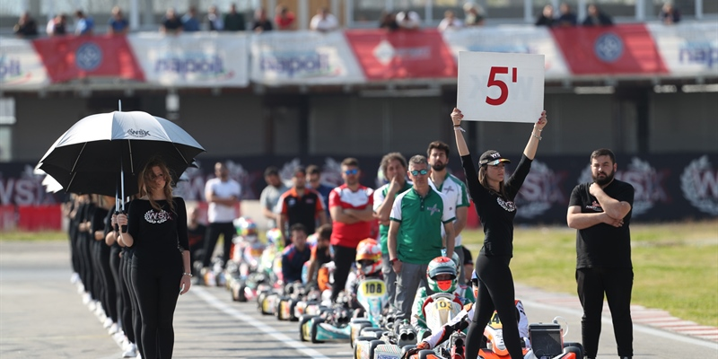 Free practice of WSK Super Master Series and WSK Euro Series from the Wednesdays in Sarno