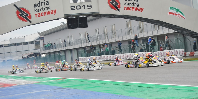 WSK Super Master Series Round 1 - wet races during qualifying heats at Adria (I)