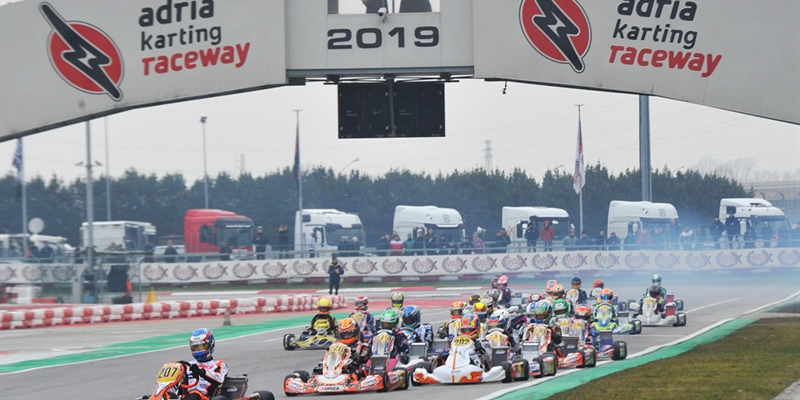 Difficult races and fights among champions at the WSK Super Master Series in Adria