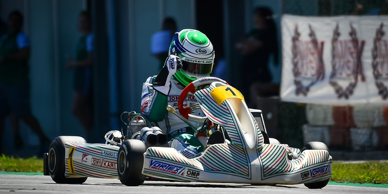The winners of the third round of WSK Super Master Series in Adria