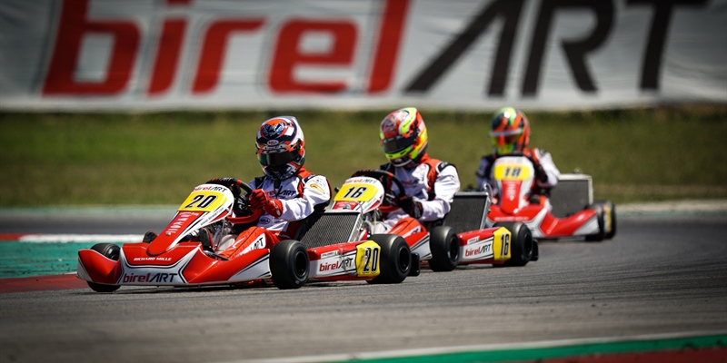 Birel ART Racing Team makes a successful comeback to competition: podium Riccardo Longhi